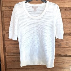 Banana Republic White Knit Top
